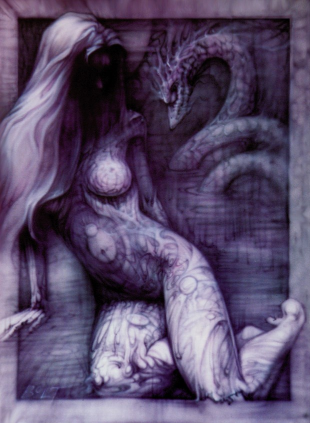 Artistic Nude Fantasy Artwork by Model Shades of Amber