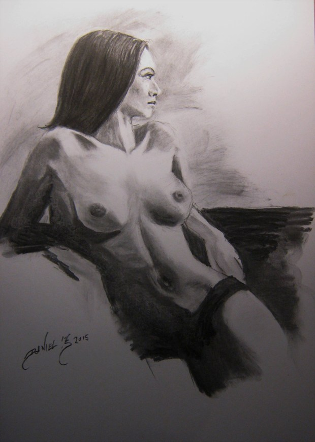 Artistic Nude Figure Study Artwork by Artist Daniel