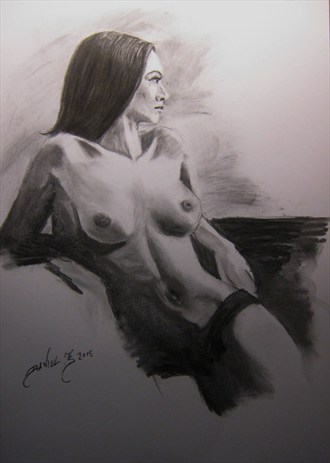 Artistic Nude Figure Study Artwork by Artist Daniel