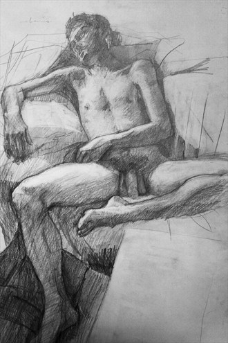 Artistic Nude Figure Study Artwork by Artist Ewan Stirling