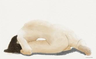 Artistic Nude Figure Study Artwork by Artist ianwh