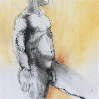 Artistic Nude Figure Study Artwork by Artist lifefigureart