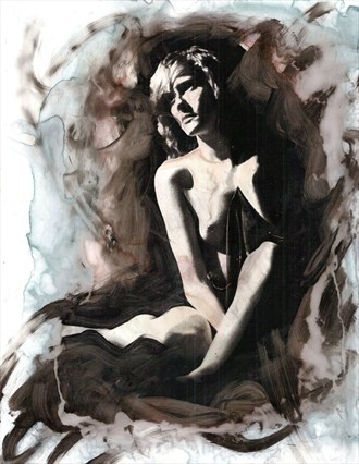 Artistic Nude Figure Study Artwork by Artist ryn0