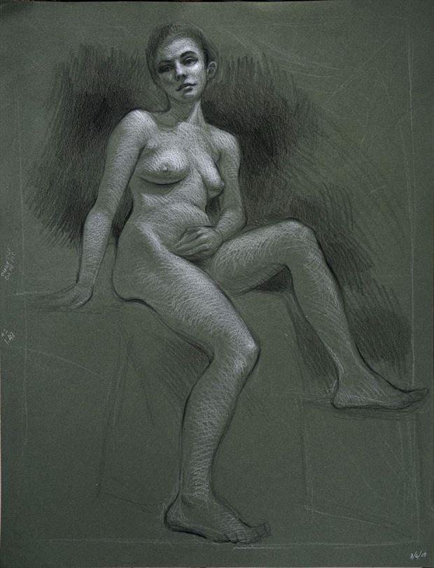 Artistic Nude Figure Study Artwork by Model Beth Elle