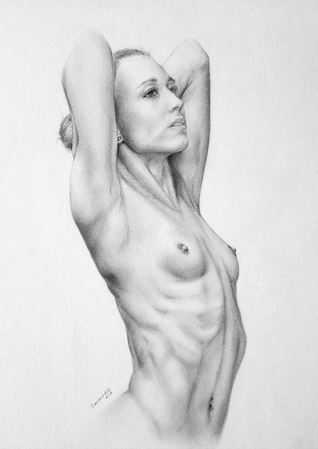 Artistic Nude Figure Study Artwork by Model Chelsea Jo
