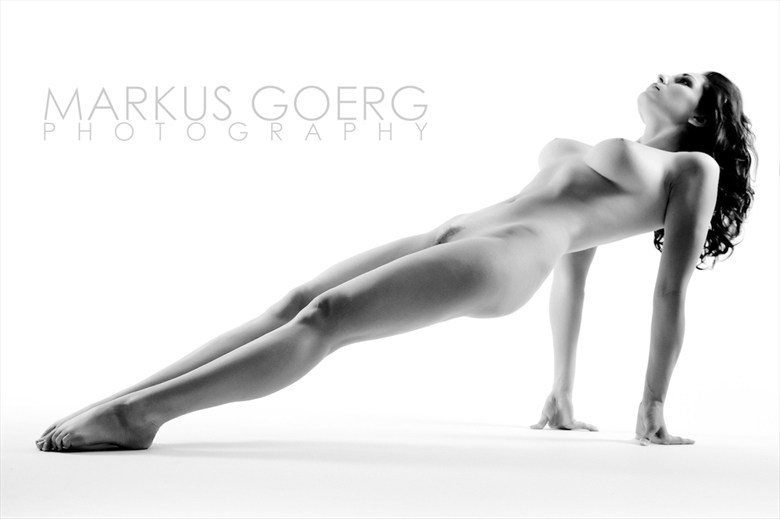 Artistic Nude Figure Study Photo by Model Carlotta Champagne