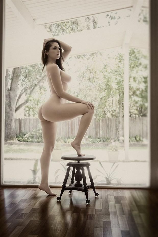 Artistic Nude Figure Study Photo by Model Carlotta Champagne