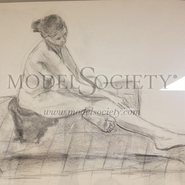 Artistic Nude Implied Nude Artwork by Model Beth Elle