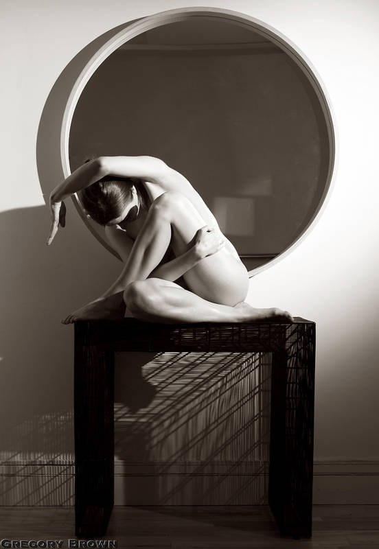 Artistic Nude Implied Nude Artwork by Model Sharn