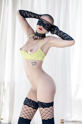 Artistic Nude Lingerie Photo by Model Cassis Bernadette