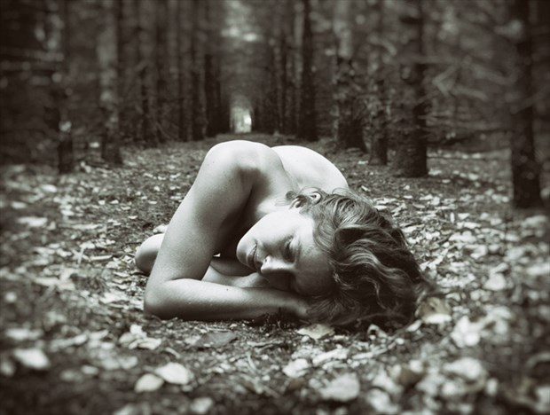 Artistic Nude Nature Photo by Model Bianca Black