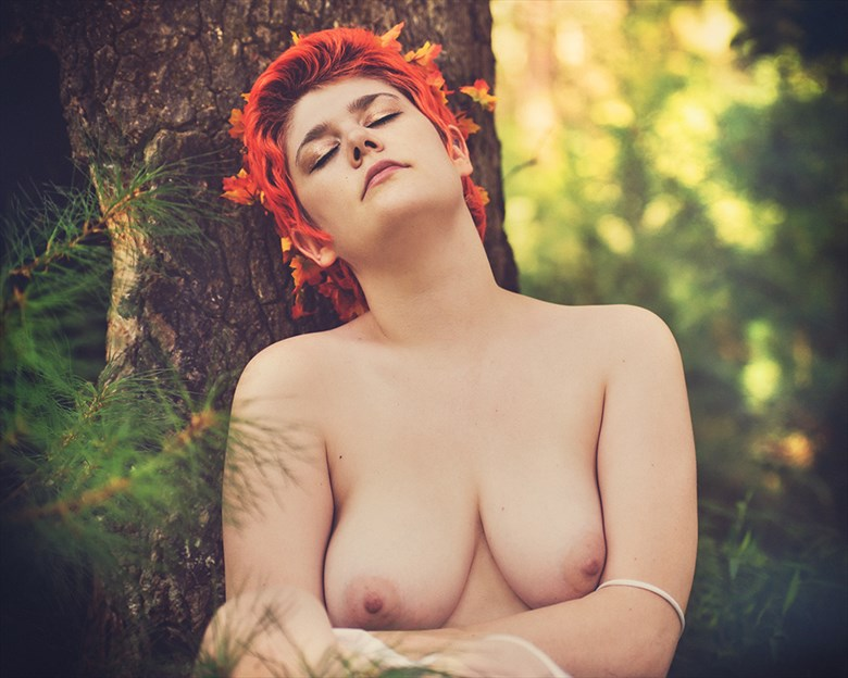 Artistic Nude Nature Photo by Model Dahliaa Black