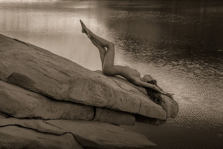 Artistic Nude Nature Photo by Model Monique