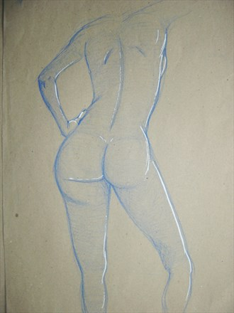 Artistic Nude Painting or Drawing Artwork by Artist Avid