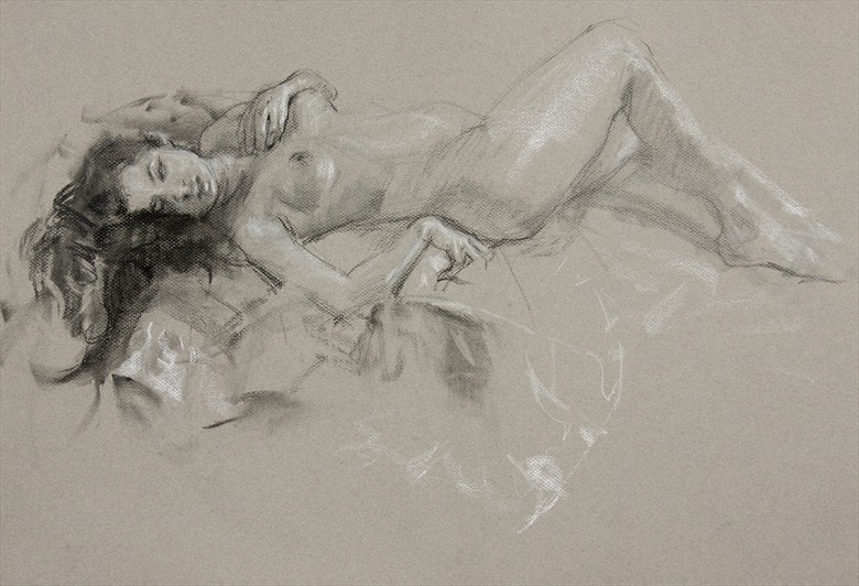 Artistic Nude Painting or Drawing Artwork by Model 000000000