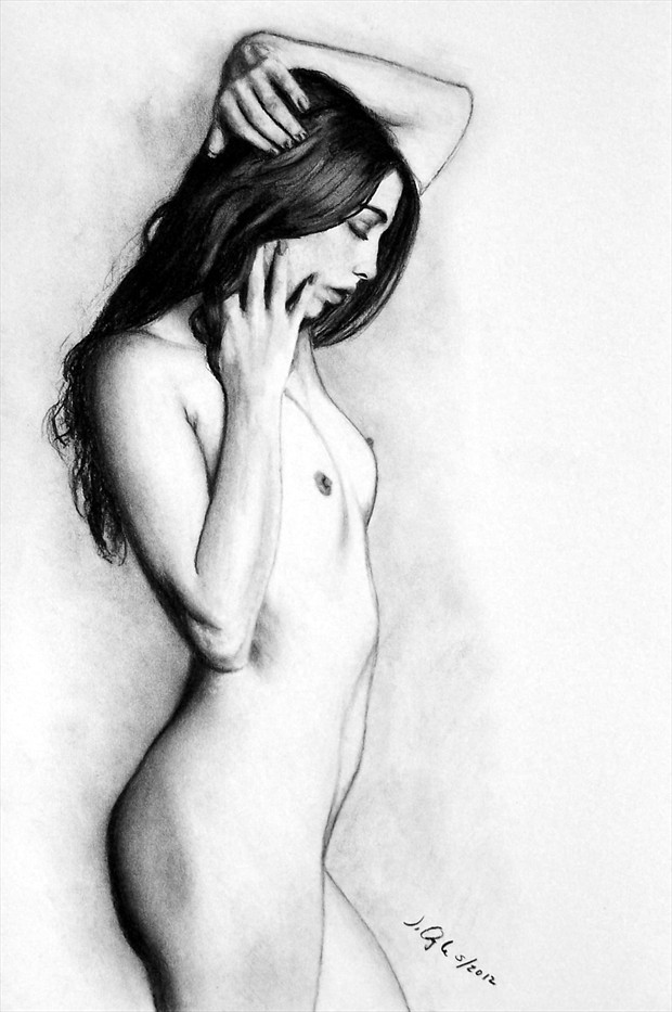 Artistic Nude Painting or Drawing Artwork by Model Jaylynn Mitchell