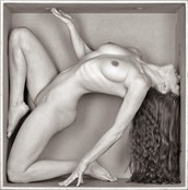 Artistic Nude Silhouette Artwork by Model Joy Draiki