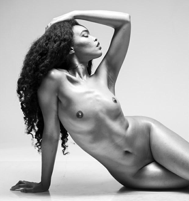 Artistic Nude Silhouette Artwork by Model Tea