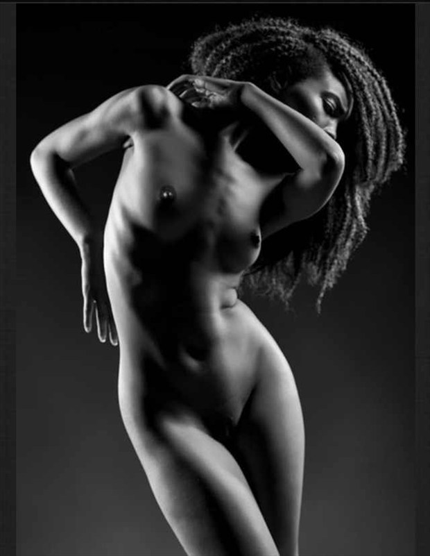 Artistic Nude Silhouette Artwork by Model Tea