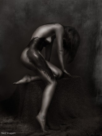 Artistic Nude Silhouette Photo by Model Axioma