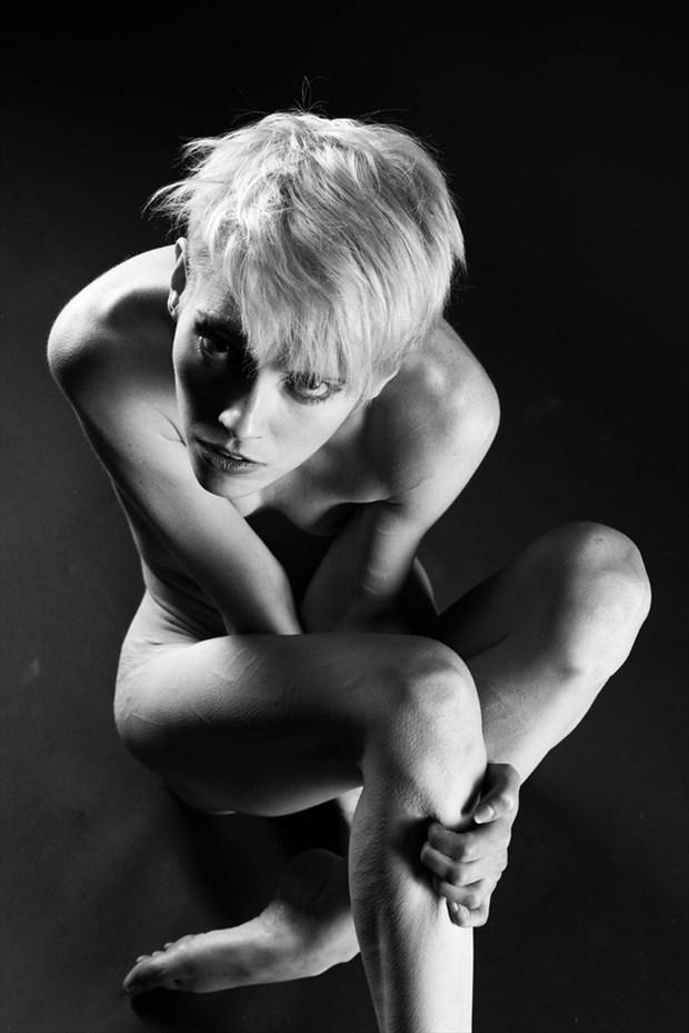 Artistic Nude Studio Lighting Photo by Model Adrien Michaels