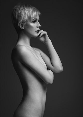 Artistic Nude Studio Lighting Photo by Model Atalanta