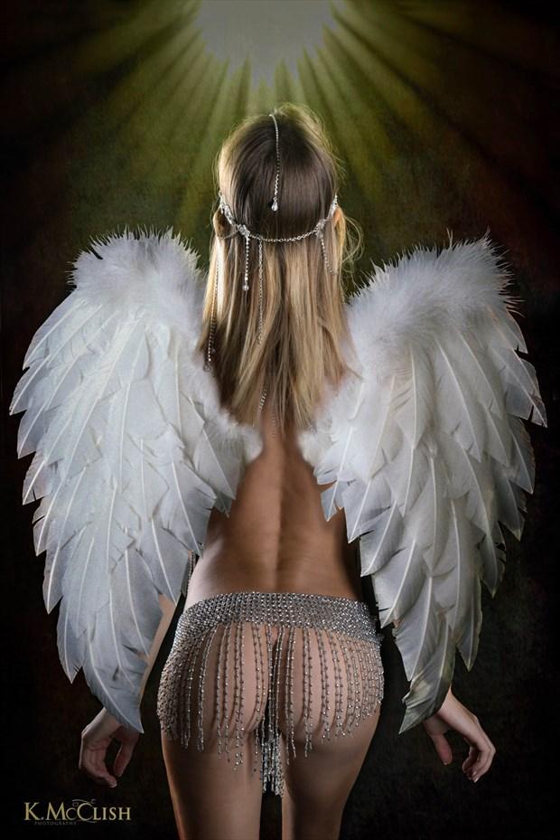 Artistic Nude Studio Lighting Photo by Model Chelsea Jo