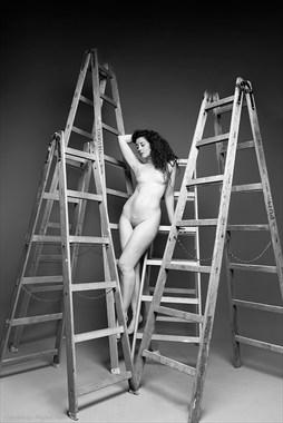 Artistic Nude Studio Lighting Photo by Model Ella Rose Muse