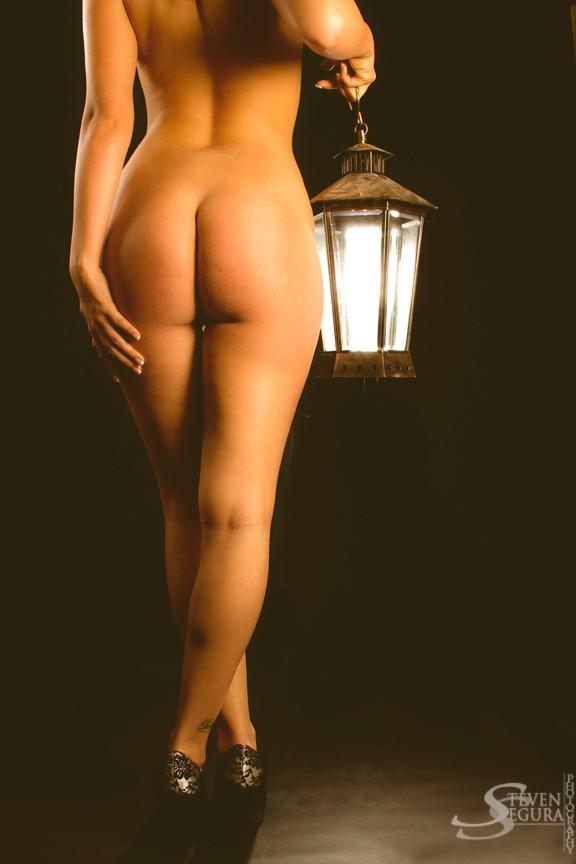 Artistic Nude Studio Lighting Photo by Model Erica Lyn