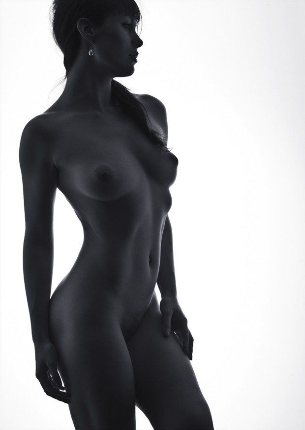 Artistic Nude Studio Lighting Photo by Model Eva Evian