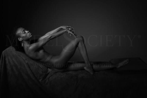 Artistic Nude Studio Lighting Photo by Model Gazelle