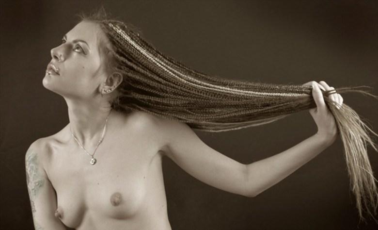 Artistic Nude Studio Lighting Photo by Model Kseniia