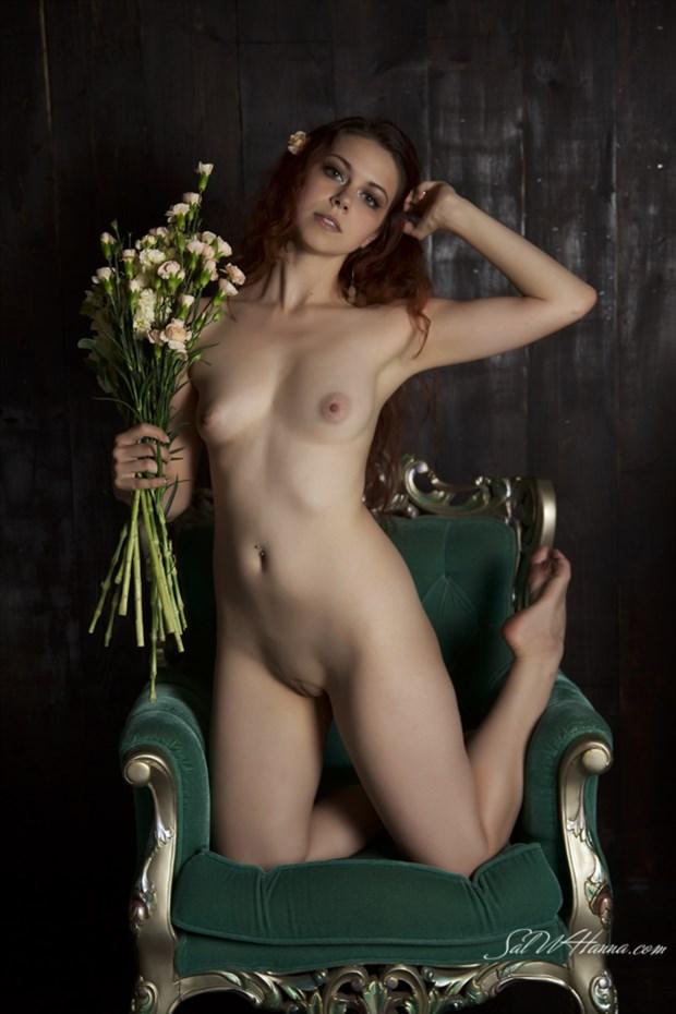 Artistic Nude Studio Lighting Photo by Model Mina Salome