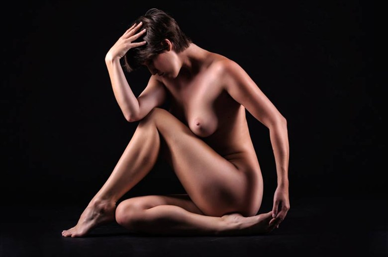 Artistic Nude Studio Lighting Photo by Model Nymph
