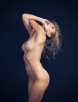 Artistic Nude Studio Lighting Photo by Model Savannah Costello