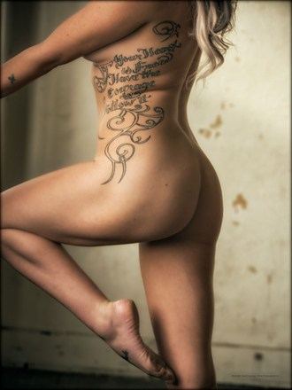 Artistic Nude Tattoos Artwork by Model Whitney
