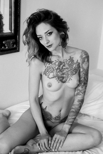 Artistic Nude Tattoos Photo by Model Theresa Manchester