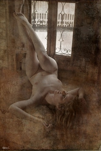 Artistic Nude Vintage Style Photo by Artist Gentil