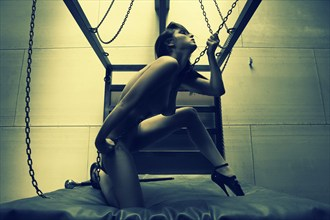 Artistic Nude Vintage Style Photo by Model Carlotta Champagne