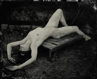 Artistic Nude Vintage Style Photo by Model Ine