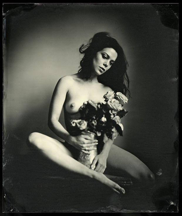 Artistic Nude Vintage Style Photo by Model Nicole Vaunt