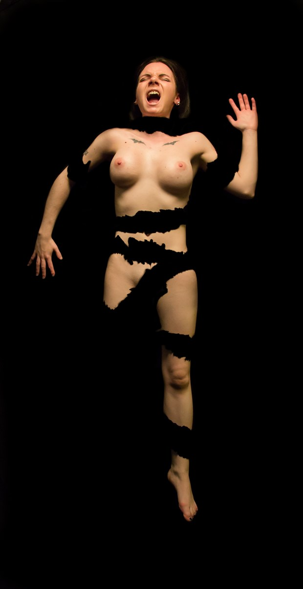Ashley Shredded 02 Artistic Nude Photo by Artist Freddie Graves