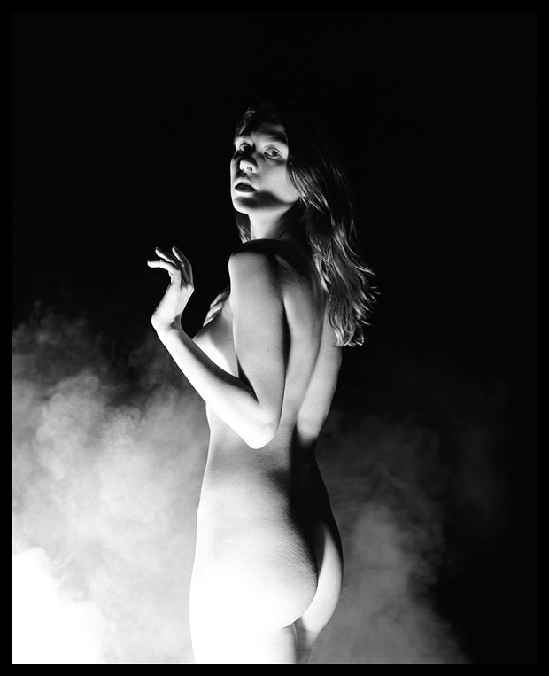 Astrid in Fog Artistic Nude Photo by Photographer Grant Beecher
