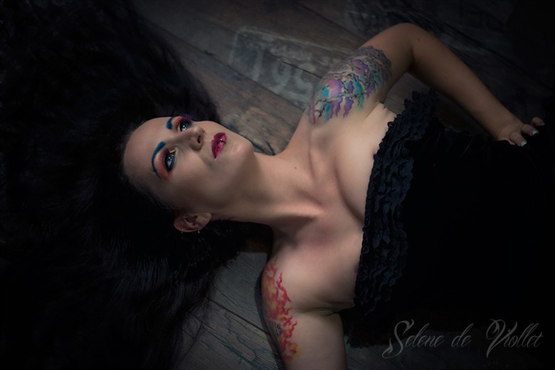 At the Fairy's place Tattoos Photo by Model Selene de Viollet
