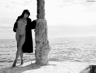 At the Sea Artistic Nude Artwork by Model Cheryl Jewelle