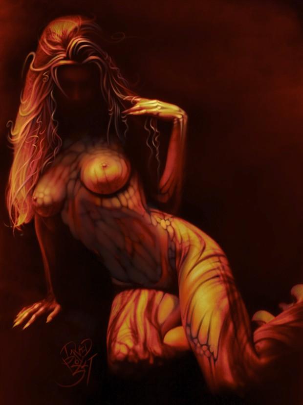 Autumn Artistic Nude Artwork by Artist David Bollt