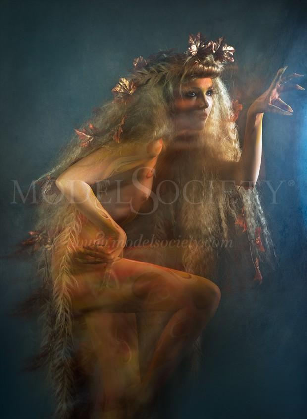 Autumn Creature Artistic Nude Photo by Model Sylph Sia