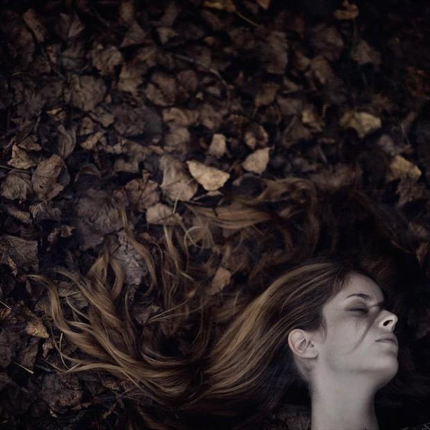 Autumn Nature Photo by Model Alessandra