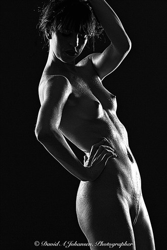B&W Nude on Black Artistic Nude Photo by Photographer Red Jade