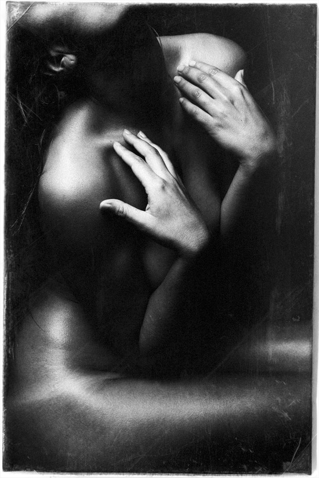 B&W Study Artistic Nude Artwork by Model RomiMuse